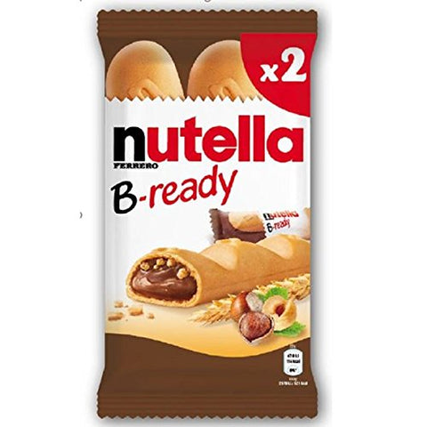 Nutella B-ready Wafer filled with Nutella, (2x22g) 44 g - Parthenon Foods