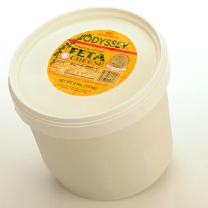 Domestic Greek Feta Cheese, 4lb bucket - Parthenon Foods  - 1