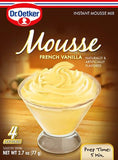 French Vanilla Mousse Mix (Oetker) 2.7 oz (77 g) - Parthenon Foods