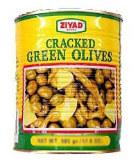 Green Cracked Olives (ziyad) 4lb (64oz) - Parthenon Foods