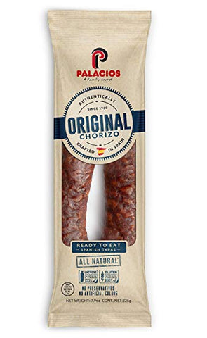 Chorizo Pork Sausage from Spain, Mild (Palacios) 7.5 oz - Parthenon Foods
