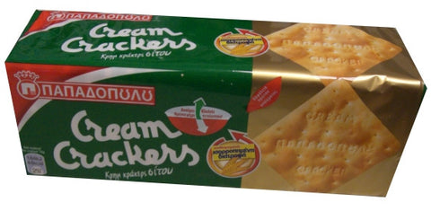 Cream Crackers WHEAT (Papadopoulos) 215g - Green Pack - Parthenon Foods