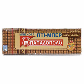 Petit Beurre WHOLE GRAIN Biscuits (Papadopoulos) 225g - Parthenon Foods