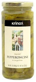 Pepperoncini Imported (krinos) 1lb - Parthenon Foods