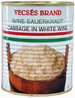 Sauerkraut - Cabbage in White Wine (Vecses) 810g - Parthenon Foods