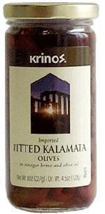 Kalamata Pitted Olives (krinos) 8oz - Parthenon Foods
