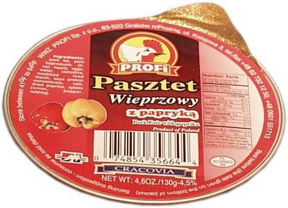 Profi Pork Village Pate with Peppers, 130g - Parthenon Foods