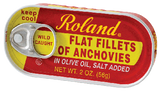 Anchovy Fillets in Olive Oil (Roland) 56g (2 oz) can - Parthenon Foods