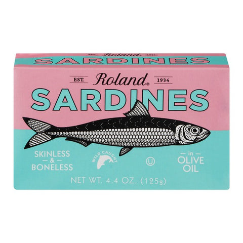 Sardines Skinless and Boneless in OLIVE Oil (Roland) 125g - Parthenon Foods