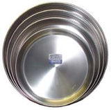 Round Stainless Steel Pan 13 in. diam., 2 in. deep - Parthenon Foods