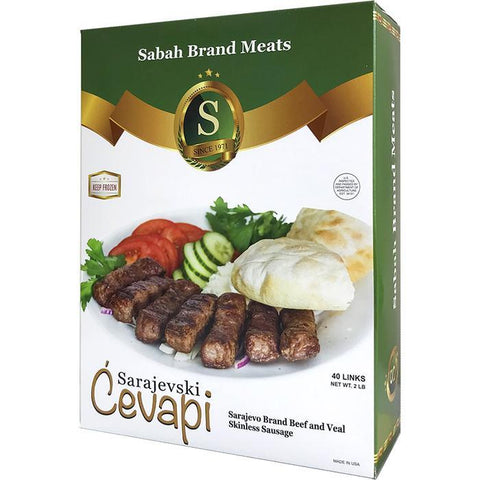 Sarajevski Cevapi (Beef and Veal Sausage Links) (Sabah Brand) 2.0 lb - Parthenon Foods