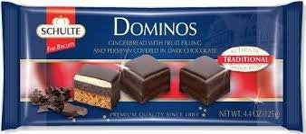 Schulte Dark Chocolate Dominos 4.4oz - Parthenon Foods