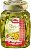 Pickled HOT Finger Peppers (Sera) 640g - Parthenon Foods