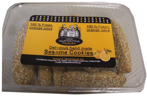Orange Sesame Cookies, Hand Made, 300g - Parthenon Foods