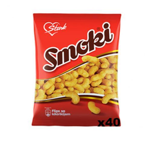 Smoki Peanut Flavored Snacks, CASE, 40x50g - Parthenon Foods