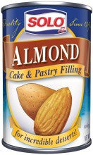 Solo Almond Filling, 12.5oz - Parthenon Foods