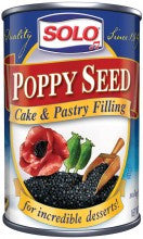 Solo Poppy Seed Filling, 12.5oz - Parthenon Foods