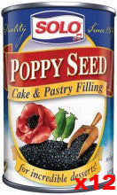 Solo Poppy Seed Filling CASE (12 x 12.5oz) - Parthenon Foods