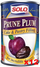 Solo Prune Plum Filling CASE (12 x 12 oz) - Parthenon Foods