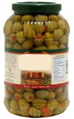 Spanish Queen Olives Stuffed with Pimento, Dr.Wt. 4.5 lbs - Parthenon Foods