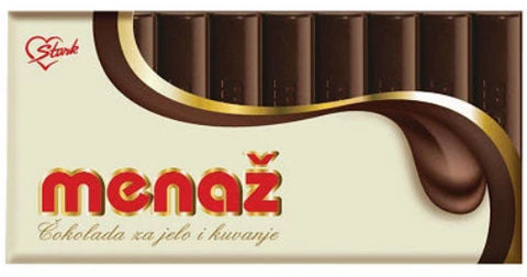 Menaz Cooking Chocolate (Stark) 200 g - Parthenon Foods