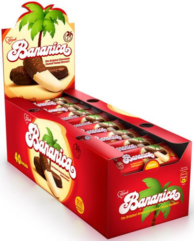 Krem Banana (Stark) CASE, 25gx40, Chocolate Covered Banana Flavored Dessert - Parthenon Foods