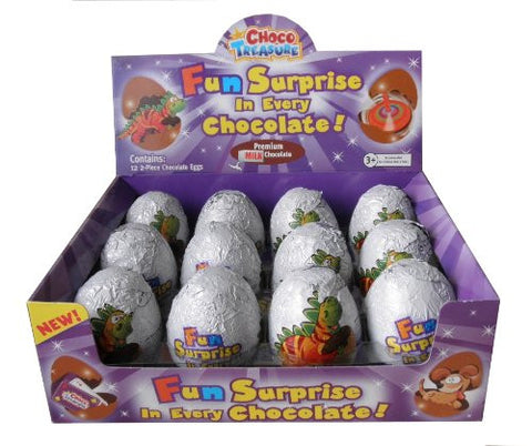 Choco Treasure Everyday Single Egg (Pack of 12) - Parthenon Foods  - 1