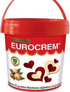 Eurocrem Hazelnut Milk and Cocoa Spread, 1000g - Parthenon Foods