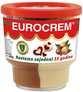 Eurocrem Hazelnut Milk and Cocoa Spread, 200g - Parthenon Foods
