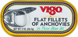 Flat Fillets of Anchovies (Vigo) 2 oz - Parthenon Foods