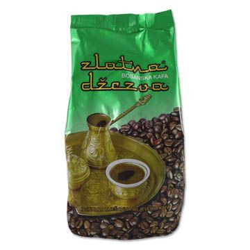 Bosnian Ground Coffee-Zlatna Dzezva (Vispak) 500g, Green Bag - Parthenon Foods