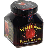 Wild Hibiscus Flowers in Syrup 8.8oz (250g) - Parthenon Foods