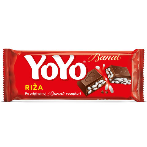 YOYO Chocolate Bar with Puffed Rice, 80g - Parthenon Foods