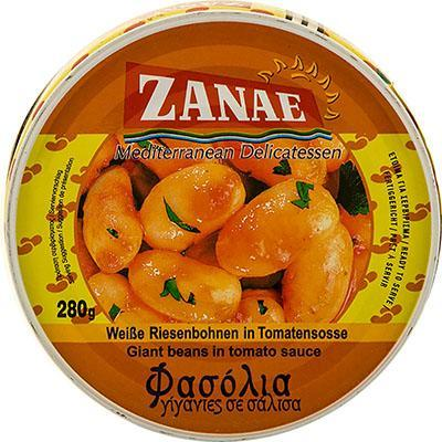 Giant Beans in Tomato Sauce (Zanae) 280g (10 oz) - Parthenon Foods