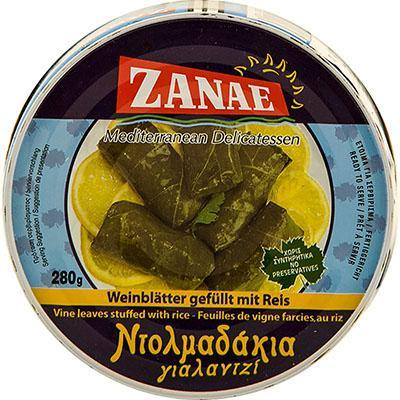 Grape Leaves stuffed with rice (zanae)  280g - Parthenon Foods