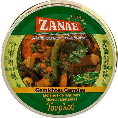 Mixed Vegetables, Tourlou (Zanae) 10 oz - Parthenon Foods