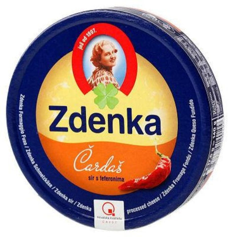 Spreadable Cheese Wedges - Hot Pepper (Zdenka) 140g - Parthenon Foods