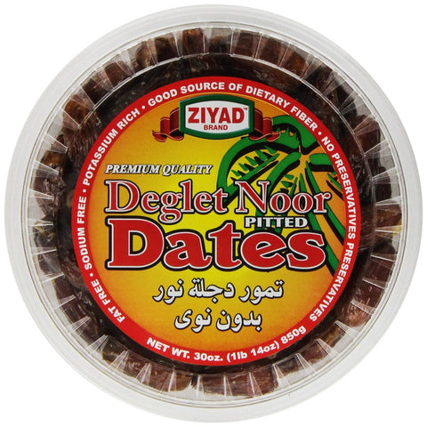 Pitted Dates, Deglet Noor (Ziyad) 30 oz (850g) - Parthenon Foods