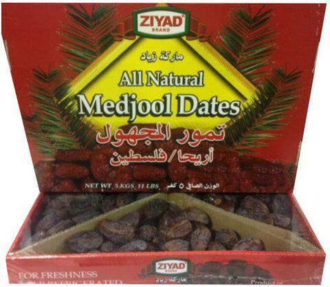 Medjool Dates (Fancy) 11lb Box - Parthenon Foods