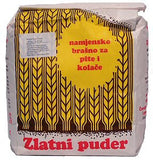Flour for Fillo Dough(Pita) and Cookies, Zlatni Puder, 2.2lb (1kg)-Type 400 - Parthenon Foods