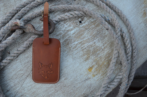 Fox Luggage Tag - Leather