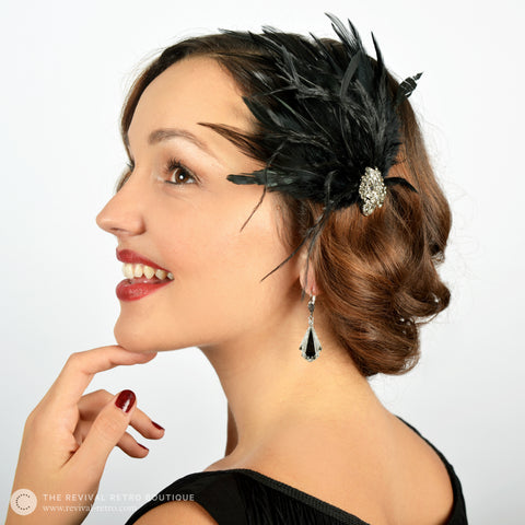 1920s Accessories - Feather Fascinator