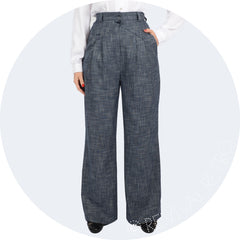 1940s style high waist trousers