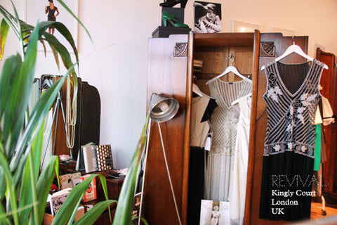 Shop interior, our first premises at Kingly Court