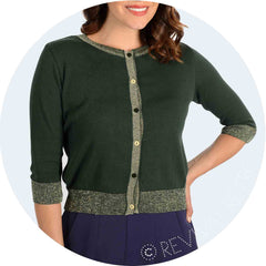 sparkly gold green cardigan