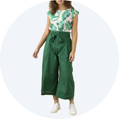 Green Wide Leg Trousers Gilda Emily And Fin