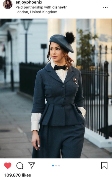 Marie Lopez Mary Poppins inspired look