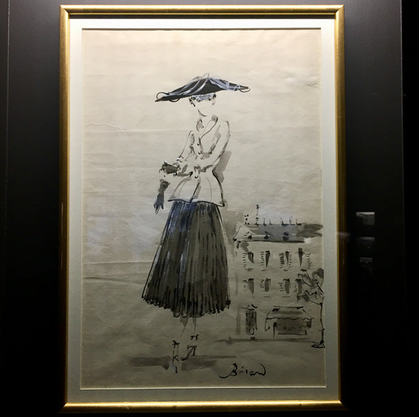 Le Tailleur Bar drawing 1947 Christian Dior