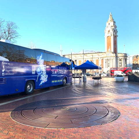 Small Business Saturday bus in Brixton