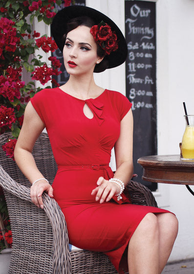 Stop Staring Timeless Dress Red modelled by IddavanMunster